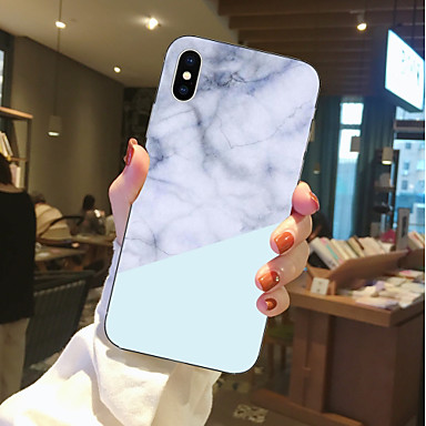 غطاء من أجل Apple iPhone X / iPhone 8 Plus / iPhone 8 شفاف / نموذج غطاء خلفي حجر كريم ناعم TPU