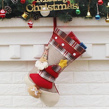 جوارب عطلة الأقمشة غير المنسوجة مربع حداثة زينة عيد الميلاد