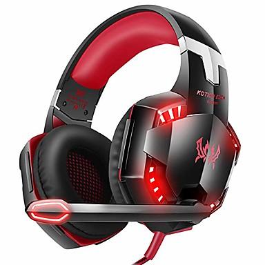 voordelige Gaming-oordopjes-kotion elke g2000 xbox one-gamingheadset met surround sound stereo, ps4-headset met ruisonderdrukkende microfoon en led-licht, compatibel met pc, ps4, Nintendo-schakelaar