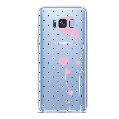 Недорогие Чехлы и кейсы для Galaxy S6-Кейс для Назначение SSamsung Galaxy S9 / S9 Plus / S8 Plus С узором Кейс на заднюю панель С сердцем Мягкий ТПУ
