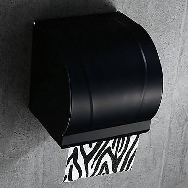 حاملة ورق التواليت تصميم جديد / كوول معاصر الالومنيوم 1PC حمالة ورق تواليت مثبت على الحائط