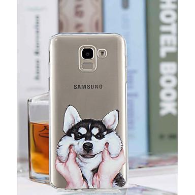 voordelige Galaxy J-serie hoesjes / covers-hoesje Voor Samsung Galaxy J8 / J7 (2017) / J6 Transparant / Patroon Achterkant Hond Zacht TPU