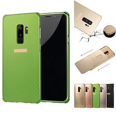 voordelige Galaxy S-serie hoesjes / covers-hoesje Voor Samsung Galaxy S9 / S9 Plus / S8 Plus Schokbestendig / Beplating Achterkant Effen Hard Aluminium