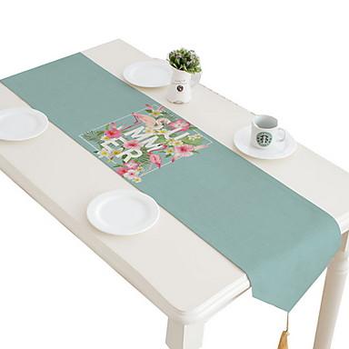 معاصر قطن مربع قماش طاولة هندسي الجدول ديكورات 1 pcs