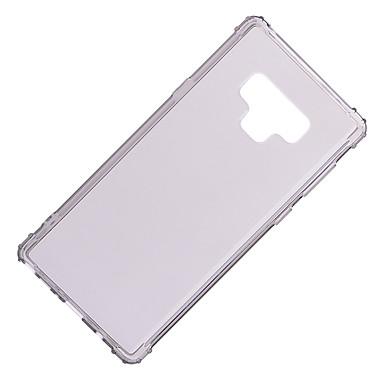 غطاء من أجل Samsung Galaxy Note 9 / Note 8 ضد الصدمات / شبه شفّاف غطاء خلفي لون سادة ناعم TPU