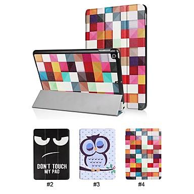 غطاء من أجل Apple iPad (2017) مع حامل غطاء كامل للجسم جملة / كلمة / كارتون / بوم قاسي جلد PU