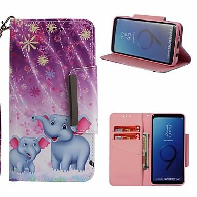 غطاء من أجل Samsung Galaxy S9 محفظة / حامل البطاقات / مع حامل غطاء كامل للجسم فيل قاسي جلد PU