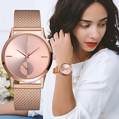 preiswerte Damen Uhren-Damen damas Uhr Armbanduhr Goldene Uhr Quartz Plastic Schwarz / Silber / Gold Chronograph Kreativ Neues Design Analog Luxus Elegant Silber / schwarz Rotgold Silbrig / White / Ein Jahr / Ein Jahr