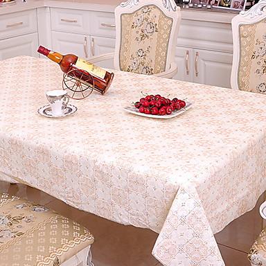 معاصر PVC محبوكة مربع قماش الطاولة هندسي الجدول ديكورات 1 pcs