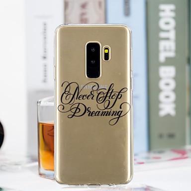 غطاء من أجل Samsung Galaxy S9 Plus / S9 شفاف / نموذج غطاء خلفي جملة / كلمة ناعم TPU إلى S9 / S9 Plus / S8 Plus