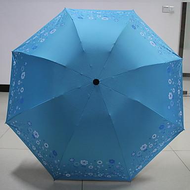قماش / بلاستيك نسائي مشمس وممطر مظلة ملطية