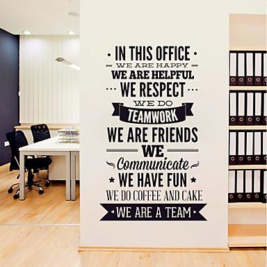 لواصق حائط مزخرفة - لواصق حائط الطائرة / الكلمات ونقلت ملصقات الحائط الأحرف / أشكال غرفة الجلوس / غرفة دراسة / مكتب