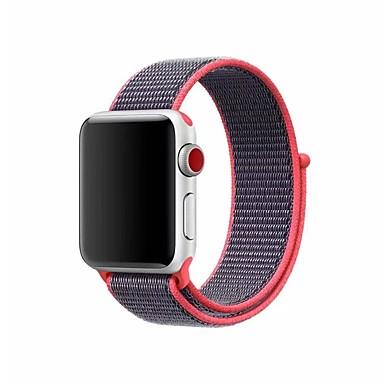 זול שעוני גברים-ניילון צפו בנד רצועה ל Apple Watch Series 4/3/2/1 שחור / כסף / תפוז 23cm / 9 אינץ ' 2.1cm / 0.83 אינצ'ים