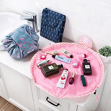 állat flamingó kozmetikai táska professzionális zsinórral sminkes tok női utazás smink szervező tárolóedény toalett mosás