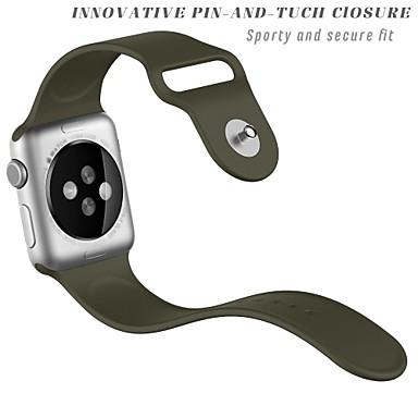 billige Herreure-silica Gel Urrem Strap for Apple Watch Series 4/3/2/1 Hvid / Orange / Gråt 23cm / 9 tommer 2.1cm / 0.83 Tommer