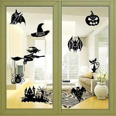 فيلم نافذة وملصقات زخرفة Halloween عطلة PVC ملصق النافذة