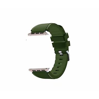 silikageeli Watch Band Hihna varten Apple Watch Series 3 / 2 / 1 Musta / Valkoinen / Sininen 23cm / 9 Tuumaa 2.1cm / 0.83 tuumaa