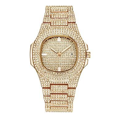 levne Pánské-Pánské Náramkové hodinky Křemenný Stříbro / Zlatá / Růžové zlato Kalendář kreativita Svítící Analogové Luxus Třpyt ozdobný - Zlatá Stříbrná Růžové zlato Jeden rok Životnost baterie / imitace Diamond
