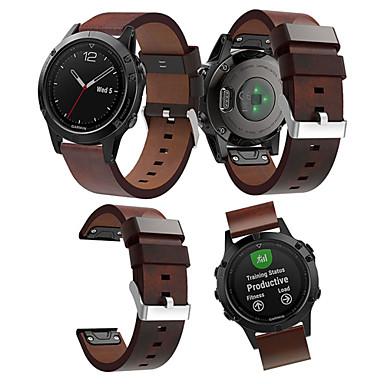 Недорогие Аксессуары для смарт-часов-Ремешок для часов для Approach S60 / Fenix 5 Garmin Кожаный ремешок Натуральная кожа Повязка на запястье