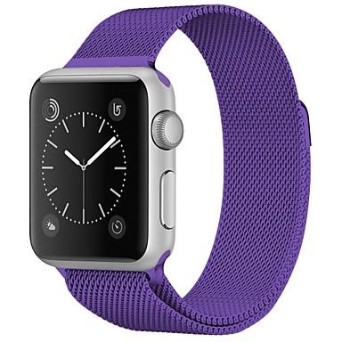 billige Herreure-Rustfrit stål Urrem Strap for Apple Watch Series 4/3/2/1 Sort / Blåt / Sølv 23cm / 9 tommer 2.1cm / 0.83 Tommer