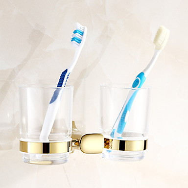 حاملة فرشاة التواليت تصميم جديد / كوول الحديث نحاس 1PC فرشاة الأسنان وملحقاتها مثبت على الحائط