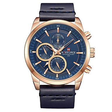 0cefddcb3 abordables Relojes de Hombre-NAVIFORCE Hombre Reloj de Vestir Reloj de  Pulsera Japonés Cuarzo Japonés