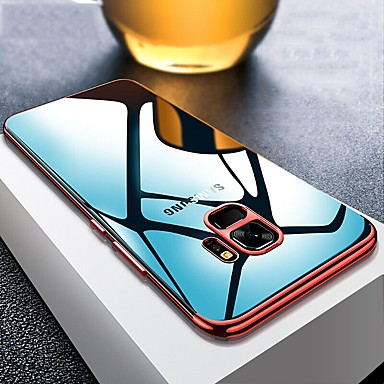 غطاء من أجل Samsung Galaxy S9 / S9 Plus / S8 Plus تصفيح / نحيف جداً / شفاف غطاء خلفي لون سادة ناعم TPU