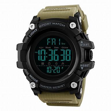 Χαμηλού Κόστους Ανδρικά ρολόγια-SKMEI Ανδρικά Αθλητικό Ρολόι Ψηφιακό ρολόι Ψηφιακό Συνθετικό δέρμα με επένδυση Μαύρο / Μπλε / Κόκκινο 50 m Ανθεκτικό στο Νερό Ημερολόγιο Διπλές Ζώνες Ώρας Ψηφιακό Πολυτέλεια Καθημερινό -
