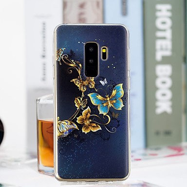 غطاء من أجل Samsung Galaxy S9 Plus / S9 شفاف / نموذج غطاء خلفي فراشة ناعم TPU إلى S9 / S9 Plus / S8 Plus