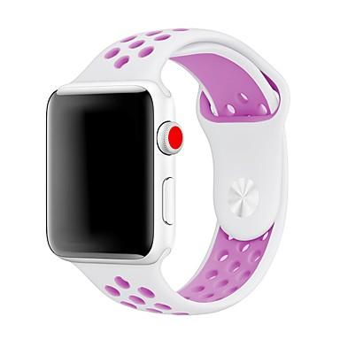 levne Pánské-Silica gel Watch kapela Popruh pro Apple Watch Series 4/3/2/1 Černá 23cm / 9 palce 2.1cm / 0.83 palce