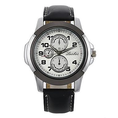 رجالي الزوجين ساعة رياضية ساعة المعصم كوارتز جلد أسود / بني ساعة كاجوال مماثل كاجوال موضة - أسود-أسمر أسود / أبيض أبيض / البيج