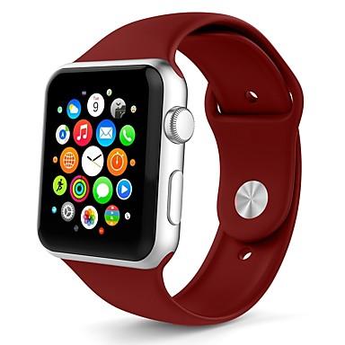 זול רצועות שעון-ג'ל סיליקה צפו בנד רצועה ל Apple Watch Series 4/3/2/1 לבן / תפוז / אפור 23cm / 9 אינץ ' 2.1cm / 0.83 אינצ'ים