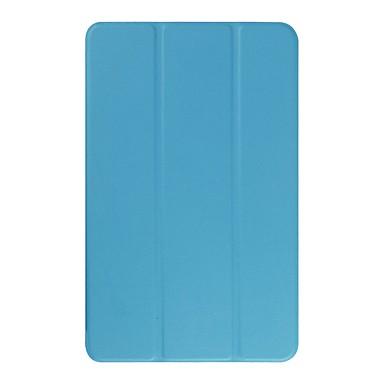 غطاء من أجل Samsung Galaxy Tab E 9.6 مع حامل غطاء كامل للجسم لون سادة قاسي جلد PU
