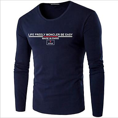 dc698b4b14cc Χαμηλού Κόστους Ανδρικά μπλουζάκια και φανελάκια-Ανδρικά Μεγάλα Μεγέθη  T-shirt Κομψό στυλ street