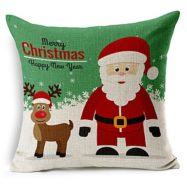 غطاء الوسادة عيد الميلاد المجيد / عطلة قطن مستطيل حزب / حداثة زينة عيد الميلاد