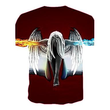 economico Abbigliamento uomo-T-shirt Per uomo Essenziale Con stampe, Ritratto Rotonda Nero XXL / Manica corta / Estate