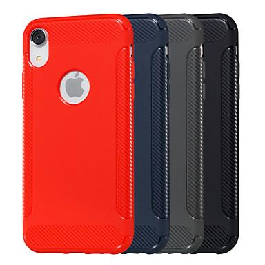 voordelige iPhone 6 hoesjes-hoesje Voor Apple iPhone XS / iPhone XR / iPhone XS Max Reliëfopdruk Achterkant Effen Zacht TPU