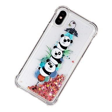 X 06913784 Per Panda Resistente Morbido 8 Custodia Liquido iPhone Apple retro iPhone X a iPhone Plus TPU Fantasia iPhone urti per iPhone 8 agli Per disegno cascata 8 pTqd1adxwn