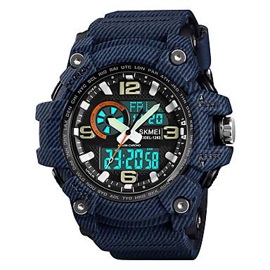 Χαμηλού Κόστους Ανδρικά ρολόγια-SKMEI Ανδρικά Αθλητικό Ρολόι Στρατιωτικό Ρολόι Ψηφιακό ρολόι Ιαπωνικά Ψηφιακό Συνθετικό δέρμα με επένδυση Μαύρο / Μπλε / Γκρι 50 m Ανθεκτικό στο Νερό Συναγερμός Ημερολόγιο Αναλογικό-Ψηφιακό