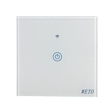 cheap Smart Switch-WETO W-T11 EU/US/CN 1 Gang WiFi Smart Wall Switch Touch Sensor Switch Smart Home Remote Control Works With Alexa Google Home via Smart Phone