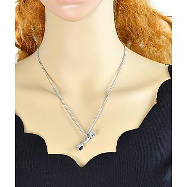 billige Mode Halskæde-Dame Stilfuldt Halskædevedhæng Heldig Damer Simple Mode Smuk Sølv 48.5 cm Halskæder Smykker 1pc Til Fest / aften Skole
