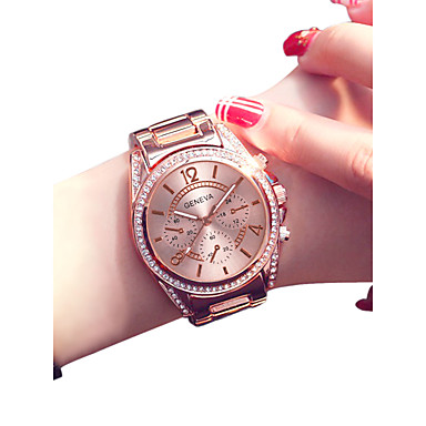 Mujer Reloj de Pulsera Cuarzo Acero Inoxidable Plata   Dorado   Oro Rosa 30  m Creativo 535fe7ca50c5