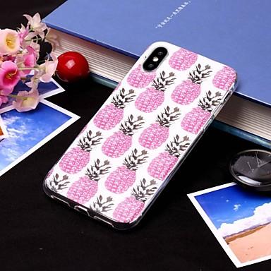 olcso iPhone 5 tokok-Case Kompatibilitás Apple iPhone XS / iPhone XS Max IMD / Áttetsző Fekete tok Élelem / Gyümölcs Puha TPU mert iPhone XS / iPhone XR / iPhone XS Max