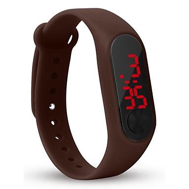 Χαμηλού Κόστους Ανδρικά ρολόγια-Ανδρικά Ψηφιακό ρολόι Ψηφιακό σιλικόνη Μαύρο / Λευκή / Κόκκινο 30 m LCD Ψηφιακό Μοντέρνα Πολύχρωμα - Πράσινο Μπλε Μπλε Απαλό