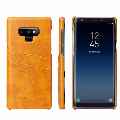 Недорогие Чехлы и кейсы для Galaxy Note-Кейс для Назначение SSamsung Galaxy Note 9 Бумажник для карт Кейс на заднюю панель Однотонный Твердый Настоящая кожа