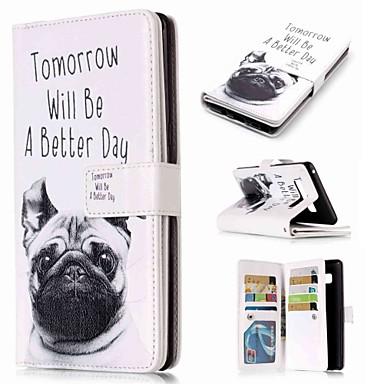 voordelige Galaxy Note-serie hoesjes / covers-hoesje Voor Samsung Galaxy Note 9 / Note 8 / Note 5 Portemonnee / Kaarthouder / met standaard Volledig hoesje Hond Hard PU-nahka