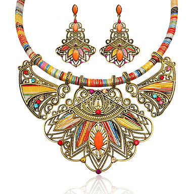 dc57f8e0b69 cheap Jewelry Sets-Women's Multicolor Synthetic Diamond Drop Earrings  Statement Necklace