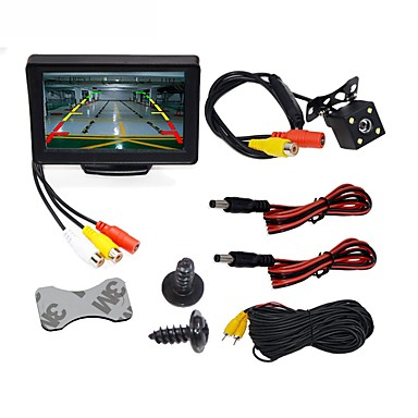 BYNCG WG4 3T-4LED 4 3 inch TFT-LCD 480TVL 480p 1/4 inch color CMOS
