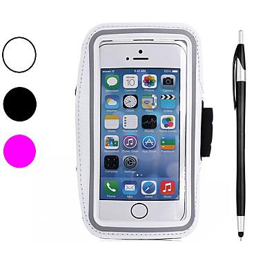 voordelige iPhone 5 hoesjes-hoesje Voor Apple iPhone XS / iPhone XR / iPhone XS Max SportArmband / Schokbestendig / Stofbestendig Armband Effen Zacht Hiilikuitu