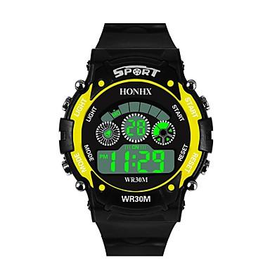 Χαμηλού Κόστους Ανδρικά ρολόγια-Ανδρικά Αθλητικό Ρολόι Ψηφιακό ρολόι Ιαπωνικά Ψηφιακό σιλικόνη Μαύρο 30 m Ανθεκτικό στο Νερό Συναγερμός Ημερολόγιο Ψηφιακό Μοντέρνα - Μαύρο / Κίτρινο Μαύρο / Μπλε / Χρονογράφος / Χρονόμετρο